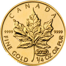 buy gold fractional coins - Canadian Maple Leaf