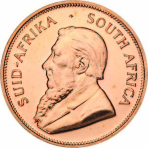 Gold Krugerrand - South African Gold coin - Front