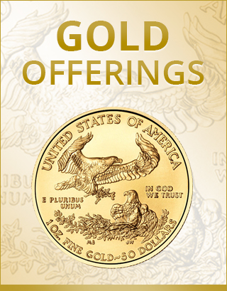buy gold online - gold coins and bars